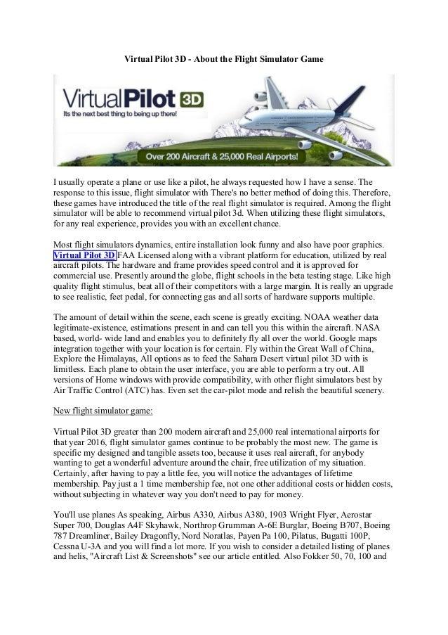 Airplane 3d Games