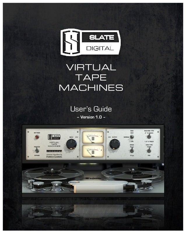 Slate digital vtm virtual tape machines plug-in (download.