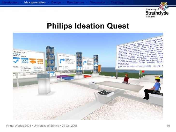 Philips Ideation Quest Introduction  •  Idea generation   •  Design  •  Manufacture  •  Discussion  •  Teaching