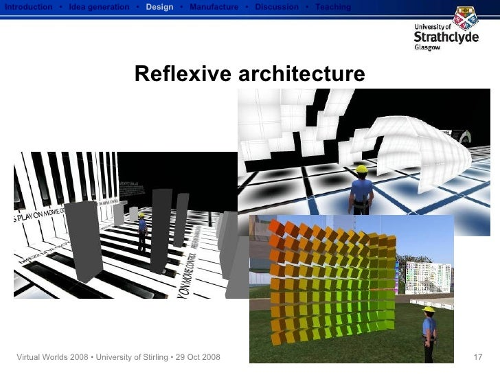 Reflexive architecture Introduction  •  Idea generation   •  Design   •  Manufacture  •  Discussion  •  Teaching