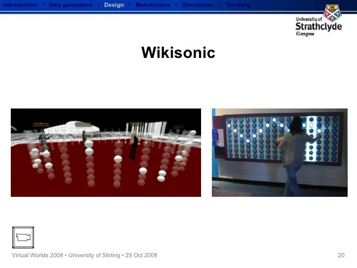 Wikisonic Introduction  •  Idea generation   •  Design   •  Manufacture  •  Discussion  •  Teaching