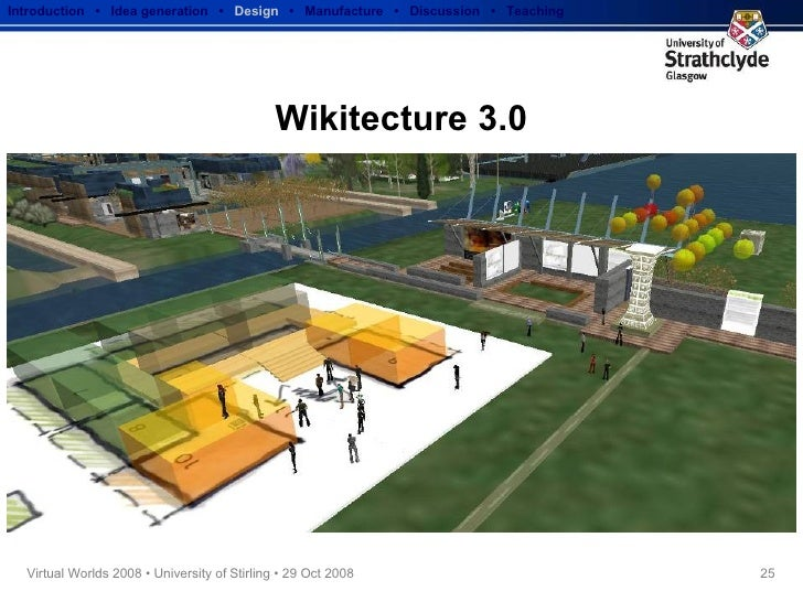 Wikitecture 3.0 Introduction  •  Idea generation   •  Design   •  Manufacture  •  Discussion  •  Teaching