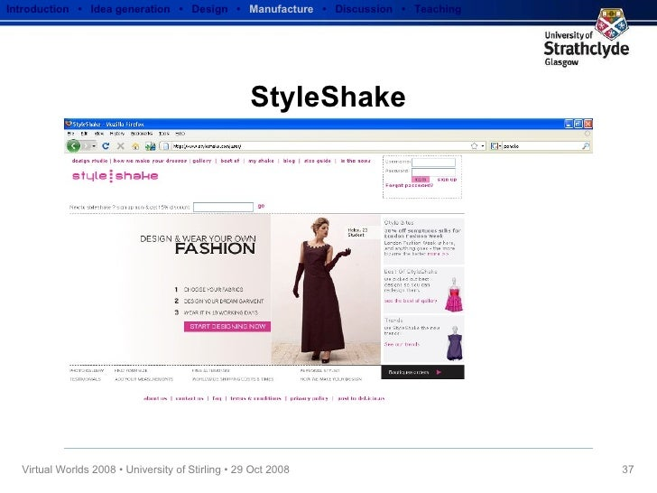 StyleShake Introduction  •  Idea generation   •  Design   •  Manufacture   •  Discussion  •  Teaching