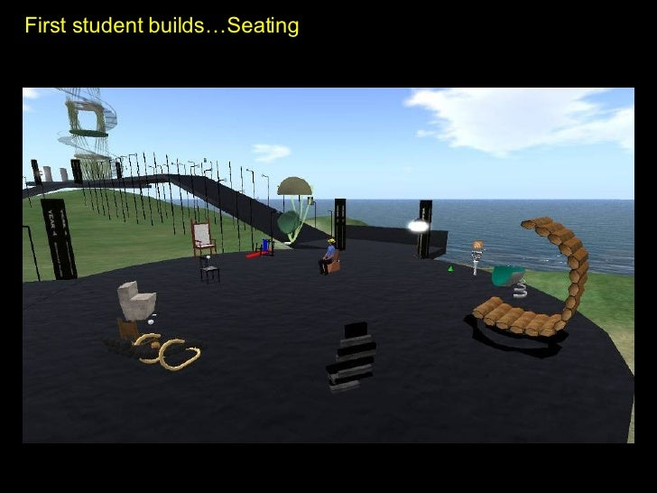 First student builds…Seating