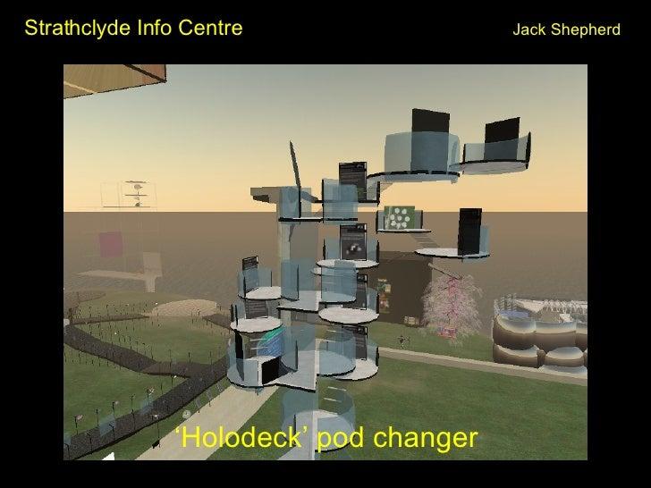 Strathclyde Info Centre Jack Shepherd <ul><li>' Holodeck' pod changer </li></ul>