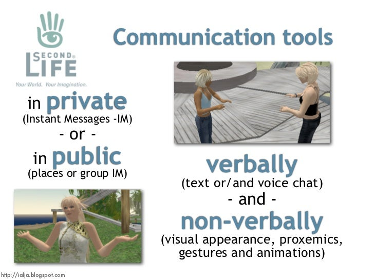 Communication tools                   private           in         (Instant Messages -IM)                       - or -    ...