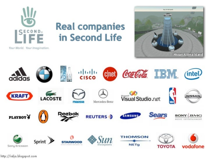 Real companies                              in Second Life                                               Nissan Altima Isl...