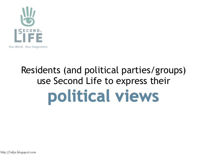 Residents (and political parties/groups)                   use Second Life to express their                             po...