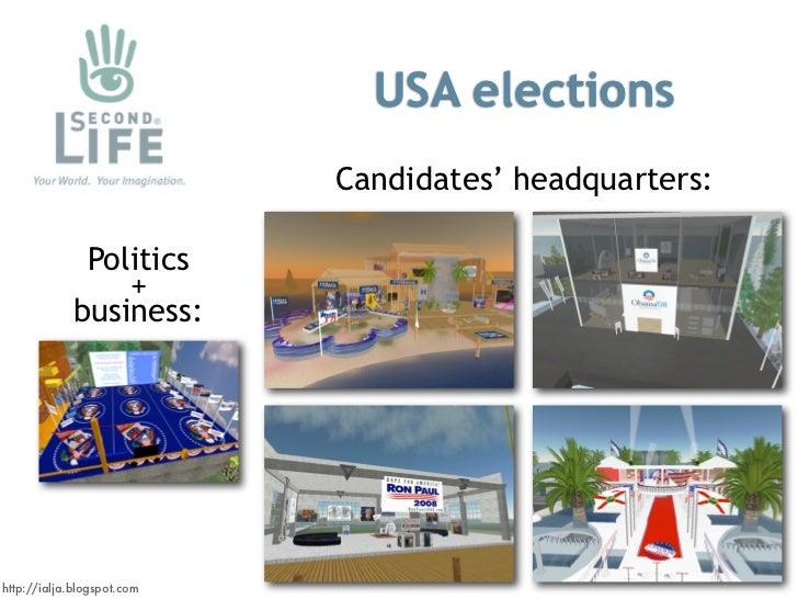 USA elections                             Candidates' headquarters:                Politics                  +            ...