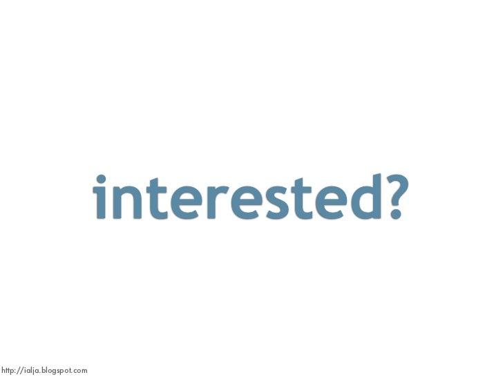 interested?  http://ialja.blogspot.com