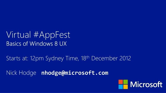 Virtual #appfest 18th Dec 2012