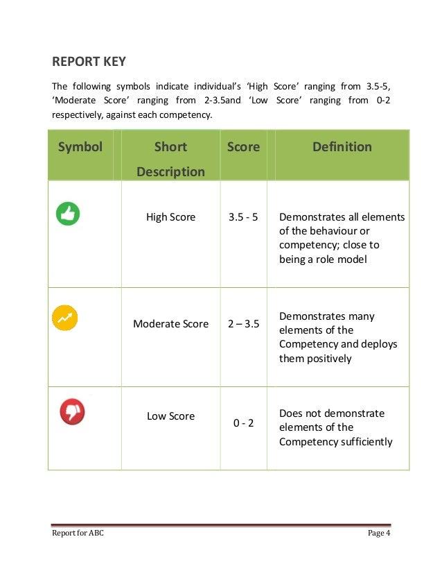 Virtual assessment centre sample report