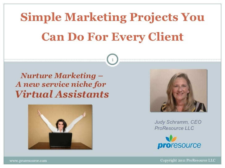 Simple Marketing Projects You Can Do For Every Client Nurture Marketing – A new service niche for  Virtual Assistants www....