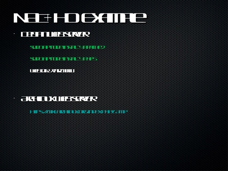 NAT+HO Example <ul><li>Debian web server </li></ul><ul><li>sudo aptitude install -y apache2 </li></ul><ul><li>sudo aptitud...