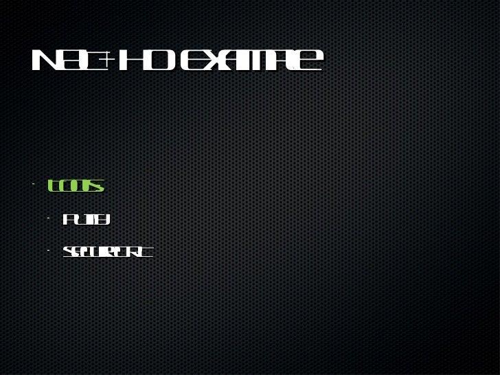 NAT+HO Example <ul><li>Tools: </li></ul><ul><ul><li>Putty </li></ul></ul><ul><ul><li>secureCRT </li></ul></ul>