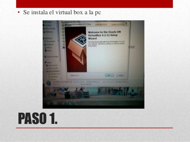 Instalación de Windows 8 en el virtual box Slide 3