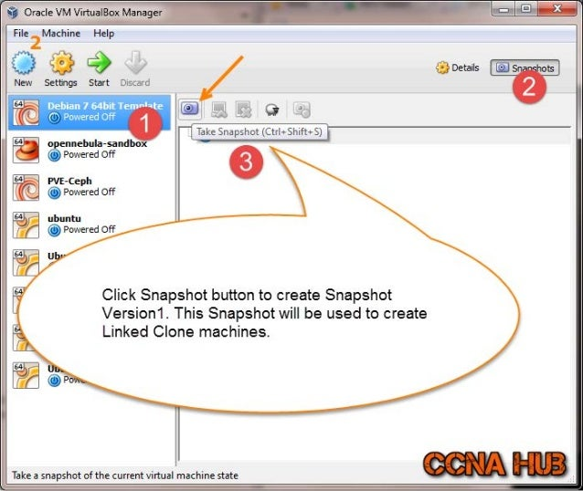 Create Linked Clone VPS from the Template Snapshot V1 - VirtualBox Slide 3