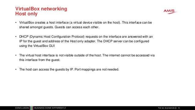 VirtualBox networking explained