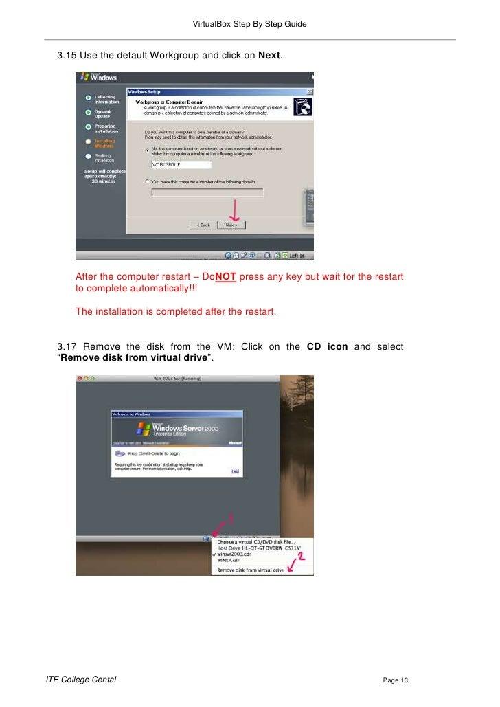 Virtualbox step by step guide