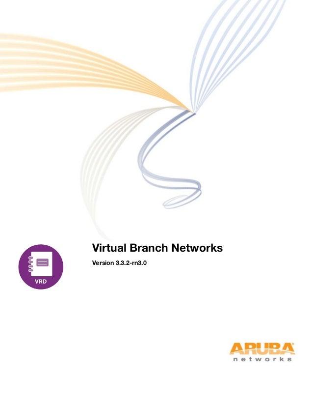 Virtual Branch Networks Version 3.3.2-rn3.0