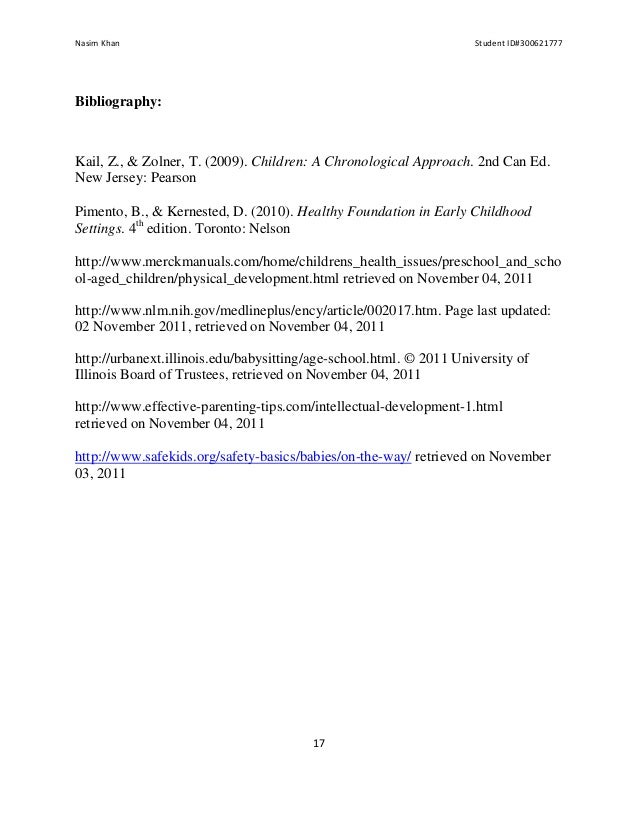 Nasim Khan                                                          Student ID#300621777Bibliography:Kail, Z., & Zolner, T...