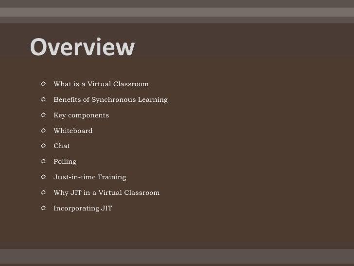 Virtual classroom Slide 2
