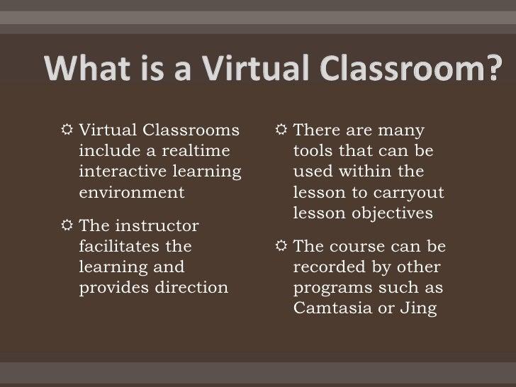 Virtual classroom Slide 3
