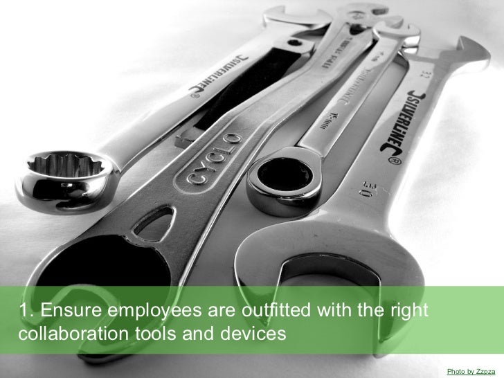 1. Ensure employees are outfitted with the rightcollaboration tools and devices                                           ...