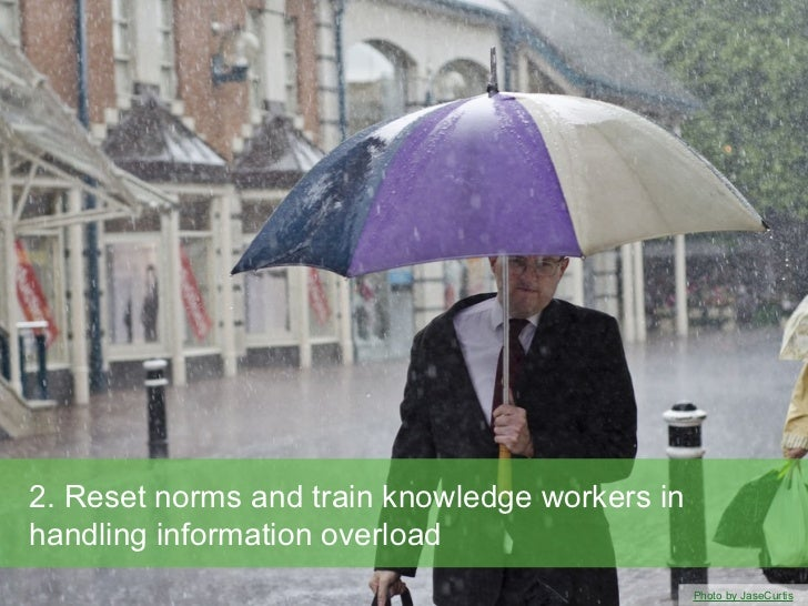 2. Reset norms and train knowledge workers inhandling information overload                                                ...