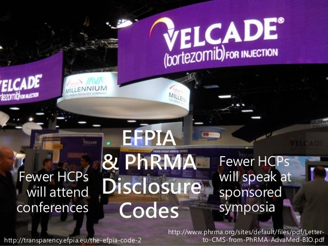 http://transparency.efpia.eu/the-efpia-code-2 http://www.phrma.org/sites/default/files/pdf/Letter- to-CMS-from-PhRMA-AdvaM...