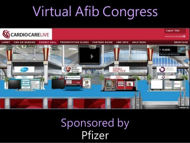 Virtual Afib Congress Sponsored by Pfizer