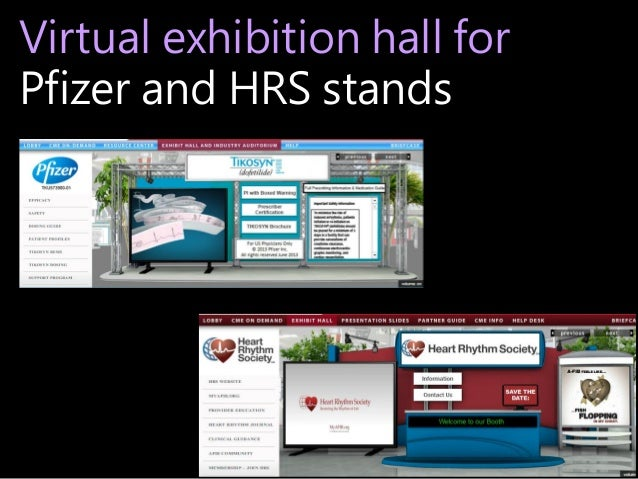 Virtual exhibition hall for Pfizer and HRS stands