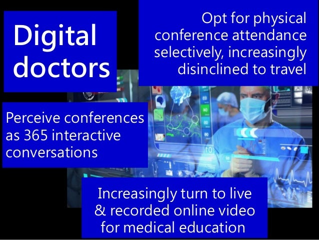 Opt for physical conference attendance selectively, increasingly disinclined to travel Increasingly turn to live & recorde...