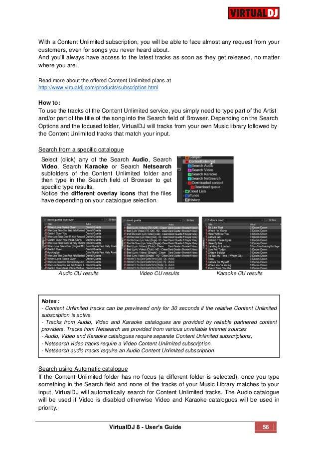 virtual dj content unlimited folder