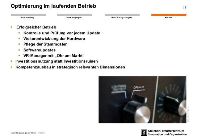 Steinbeis-Transferzentrum Innovation und Organisation EinführungsprojektAuswahlprojekt BetriebVorbereitung Optimierung im ...