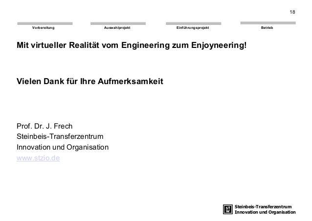 Steinbeis-Transferzentrum Innovation und Organisation EinführungsprojektAuswahlprojekt BetriebVorbereitung Mit virtueller ...