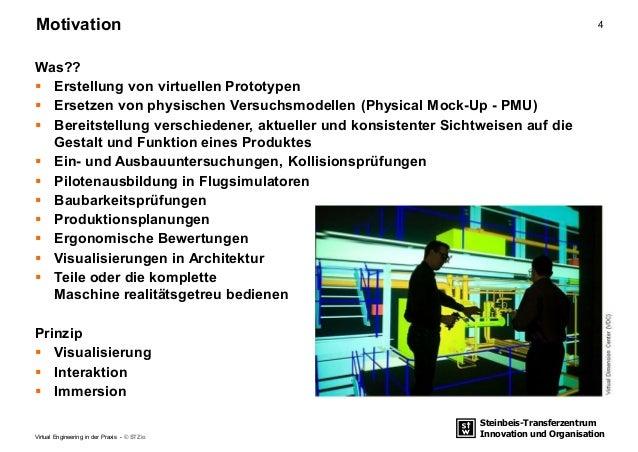 Steinbeis-Transferzentrum Innovation und Organisation 4Motivation Virtual Engineering in der Praxis - © STZio Was??  Erst...