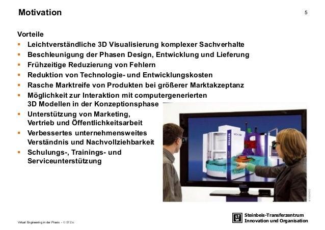 Steinbeis-Transferzentrum Innovation und Organisation 5Motivation Virtual Engineering in der Praxis - © STZio Vorteile  L...