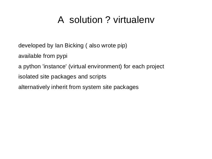 5 Minute Intro To Virtualenv