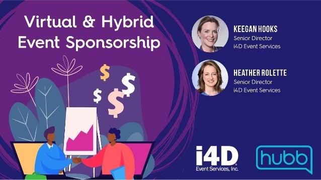 October 2020 | Virtual & Hybrid Event Sponsorships Promoting sponsorships in an uncertain time Engage and plan Keegan Hook...