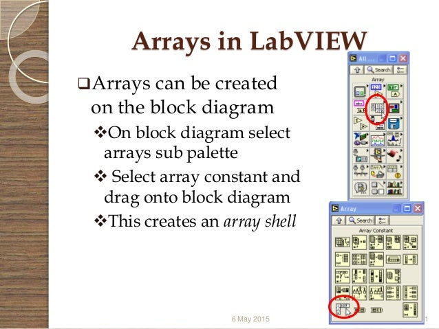 Virtual instrumentation labview 61 arrays in labview ccuart Gallery