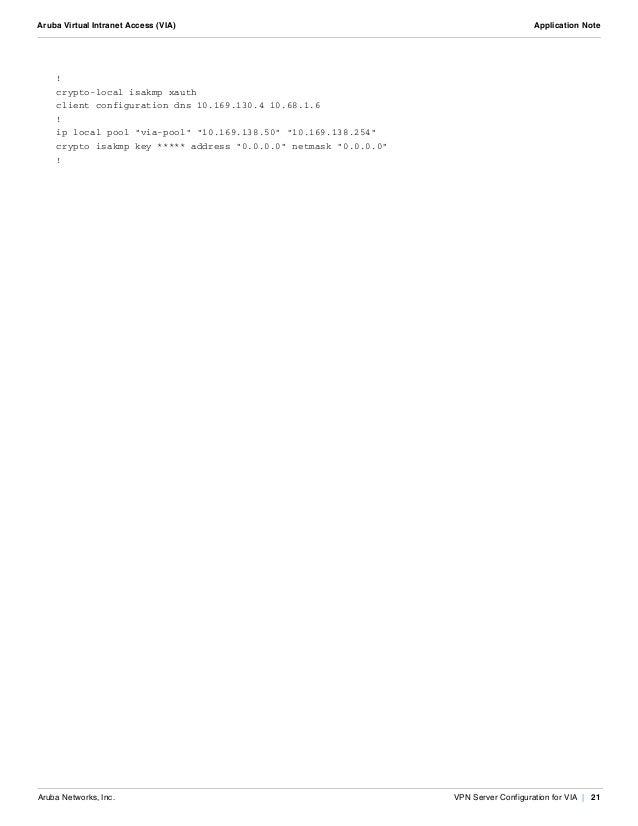 Virtual Intranet Access (VIA)