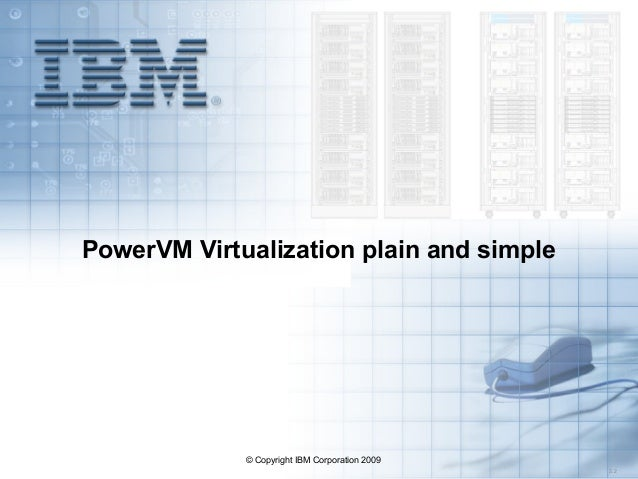 © Copyright IBM Corporation 2009 3.2 PowerVM Virtualization plain and simple
