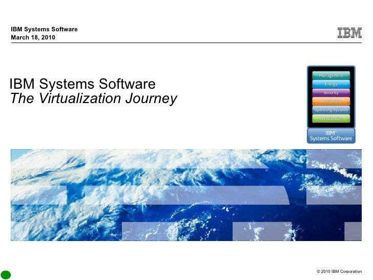 IBM Systems Software The Virtualization Journey IBM Systems Software March 18, 2010