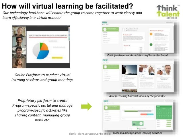 Think Talent Services Confidential How will virtual learning be facilitated? Online Platform to conduct virtual learning s...