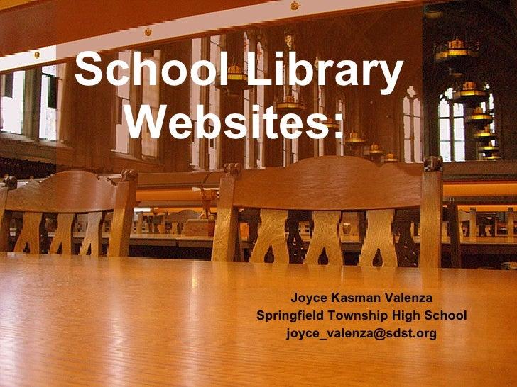 Open the Door, Let \'em In: Virtual School Libraries