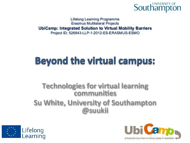 Technologies	   for	   virtual	   learning	    communi3es	    Su	   White,	   University	   of	   Southampton	    @suukii	...