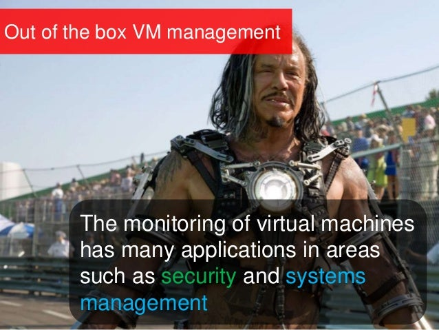 Out of the box VM management The monitoring of virtual machines has many applications in areas such as security and system...