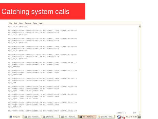 Catching system calls
