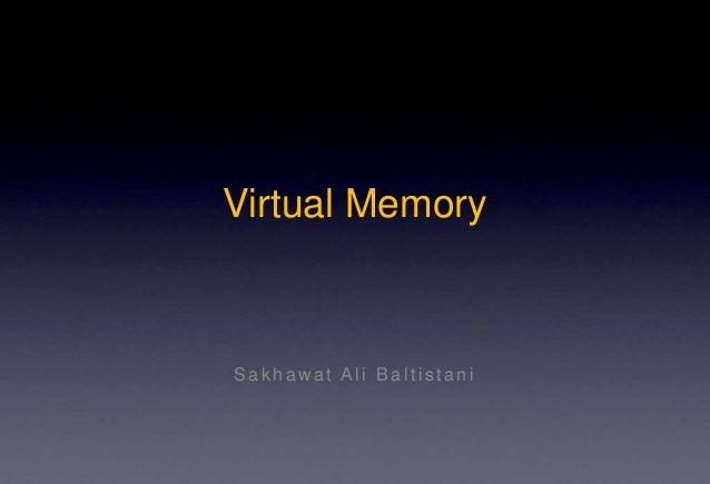 Virtual Memory Sak haw at Ali Baltis tani
